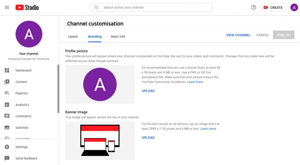 channel customisation
